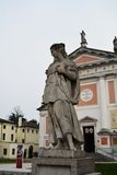 S. Liberty Square and female statue, Castelfranco, Italy Royalty Free Stock Photos