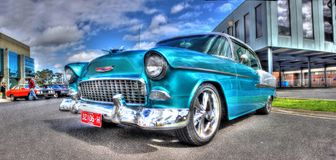 1950s light blue Chevy Bel Air Royalty Free Stock Photo