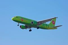 S7 - Lignes aériennes Airbus A320 de la Sibérie Image libre de droits