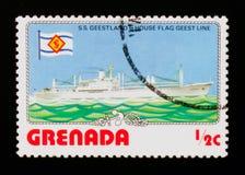 S S Linea più geest della bandiera della Camera e di Geestland, serie delle navi, circa 1976 Fotografia Stock