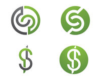 S listu finanse logo Obraz Stock