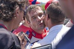 S.Loeb dopo la conquista del raduno Bulgaria 2010 di WRC Fotografia Stock Libera da Diritti