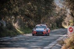 S Loeb u. D Elena konkurrieren im 2019 WRC-Ausflug de Corse lizenzfreies stockbild