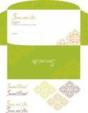 S logo with sample envelope Royalty Free Stock Image