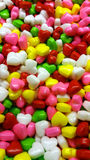 That's a lot of hearts. Colorful candy hearts Stock Images