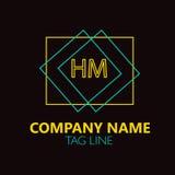 S.M. Letter Logo Design Photos libres de droits