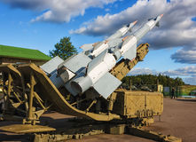 S-125M NevaM. Σοβιετικό εδάφους-αέρος πυραυλικό σύστημα. Στοκ Εικόνες