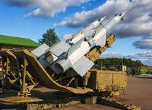 S-125M NevaM. Sistema de misiles del suelo al aire soviético. Imagenes de archivo