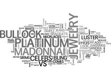 It S Madonna Vs Bullock In Jewelry Styles Word Cloud Concept Royalty Free Stock Photography