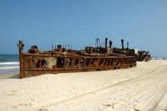 S S Maheno en Fraser Island, Australia foto de archivo libre de regalías