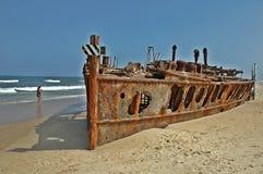 S S Maheno in Fraser Island, Australië royalty-vrije stock fotografie