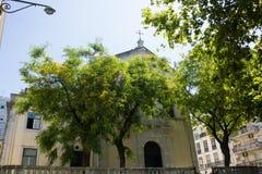 S Mamede教会在里斯本(里斯本)葡萄牙 免版税库存照片