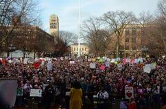 ` S março Ann Arbor 2017 das mulheres Imagem de Stock Royalty Free