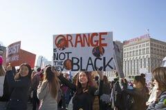 ` S março das mulheres em Chicago 2017 Fotografia de Stock