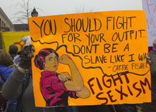 ` S março das mulheres em Washington imagens de stock royalty free