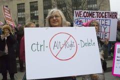 ` S março das mulheres em Washington imagens de stock