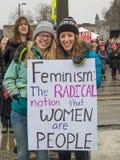 ` S março das mulheres, Saint Paul, Minnesota, EUA Imagens de Stock