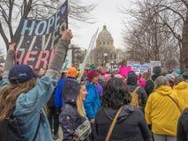 ` S março das mulheres, Saint Paul, Minnesota, EUA Fotografia de Stock