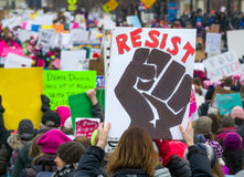` S março Minnesota de 2017 mulheres Foto de Stock Royalty Free