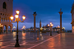 S.Marco Canal view in winter morning Royalty Free Stock Images