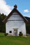 S. Margherita church in Cadore, Dolomiti mountains, Italy stock photo