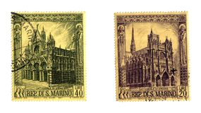 S. Marino old stamps Stock Photos