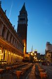 S. Mark's Square by night, Venice stock photography
