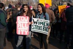 ` S mars de femmes d'Ann Arbor Michigan 2018 Image libre de droits