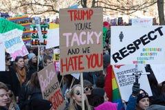 ` S mars Londres, 2016 de femmes Image libre de droits