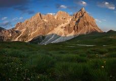 S Martino di Castrozza Passo Rolle, Dolomit stockbilder