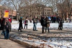 ` S marzo de las mujeres de Ann Arbor Michigan 2018 Imágenes de archivo libres de regalías