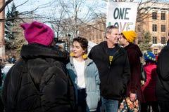 ` S marzo de las mujeres de Ann Arbor Michigan 2018 Foto de archivo libre de regalías
