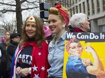 ` S marzo de las mujeres en Washington Fotografía de archivo