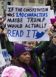 ` S marzo de las mujeres en Washington Fotos de archivo libres de regalías