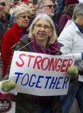 ` S marzo de las mujeres en Washington Imagen de archivo