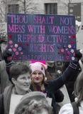 ` S marzo de las mujeres en Washington Fotografía de archivo libre de regalías