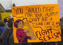 ` S marzo de las mujeres en Washington Imágenes de archivo libres de regalías