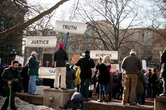 ` S marzo delle donne di Ann Arbor Michigan 2018 fotografie stock libere da diritti