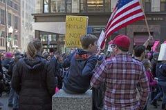 ` S marzo delle donne su Chicago 2017 Immagini Stock Libere da Diritti