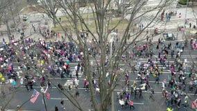 ` S marzo delle donne su Washington archivi video