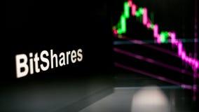 S?mbolo de BitShares Cryptocurrency El comportamiento de los intercambios del cryptocurrency, concepto Tecnolog?as financieras mo imágenes de archivo libres de regalías
