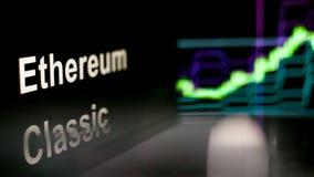 S?mbolo de Cryptocurrency O comportamento das trocas do cryptocurrency, conceito Tecnologias financeiras modernas ilustração stock