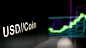 S?mbolo de Cryptocurrency O comportamento das trocas do cryptocurrency, conceito Tecnologias financeiras modernas ilustração royalty free