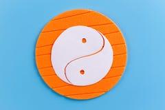 S?mbolo de Yin Yang foto de archivo libre de regalías
