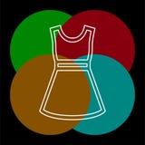 S?mbolo do modelo de forma, vestido ocasional da mulher do vetor ilustração stock