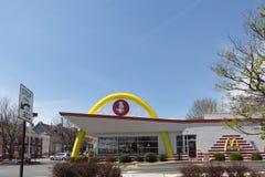 ` S McDonald в США, Корпорации цепь ` s мира самая большая ресторанов фаст-фуда гамбургера Стоковое Фото