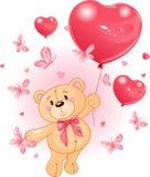 s miś pluszowy valentine Obrazy Royalty Free