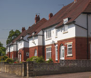 1920s middle class houses. Semi detached row of middle class 1920s designed red brick houses Royalty Free Stock Photography