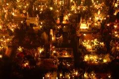 ‰ S MIXQUIC, MEXICO - NOVEMBER 2012 FÖR SAN ANDRÃ: Årliga åminnelser som är bekanta som `-LaAlumbrada ` under dagen av dödaen royaltyfria bilder