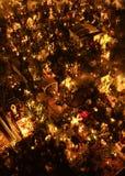 ‰ S MIXQUIC, MEXICO - NOVEMBER 2012 FÖR SAN ANDRÃ: Årliga åminnelser som är bekanta som `-LaAlumbrada ` under dagen av dödaen arkivfoto